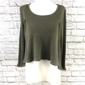 Altar'd State Thermal Waffle Knit Layered Sweater